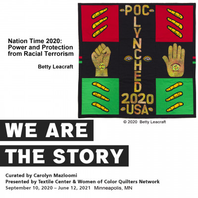 Nation Time 2020 : Contemporary Art Quilt by Betty Leacraft